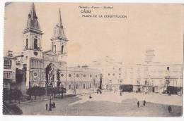 España Tarjeta Postal Cadiz Plaza De La Constitucion - Postcard AK Cpa (W3_637) - Cádiz