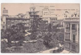 España Tarjeta Postal Cadiz Parque De Guerra Jimenez Y Torre De Tavira - Postcard AK Cpa (W3_639) - Cádiz