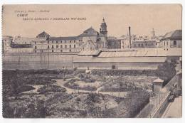 España Tarjeta Postal Cadiz  Santo Domingo Y Murallas Antiguas - Postcard AK Cpa (W3_640) - Cádiz