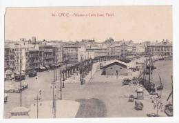 España Tarjeta Postal Cadiz  Aduana Y Calle Isaac Peral - Postcard AK Cpa (W3_642) - Cádiz