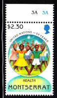 Montserrat MNH Scott #875 $2.30 Children - Health - United Nations 50th Anniversary - Montserrat