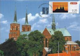 311. DENMARK / DANEMARK - Carte Maximum Card - ATM 2012 - NORDIA 2012 - Roskilde Cathedral - Maximum Cards & Covers