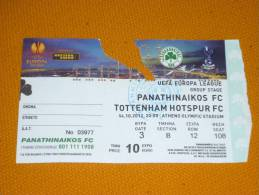 Panathinaikos-Tottenham Europa League Football Match Ticket - Match Tickets