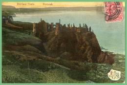 CPA- Dunluce Castle-Portrush  .voyagée  1908 - Antrim / Belfast
