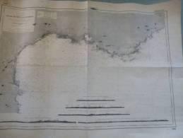 Carte Marine Du Cap Creux Au Cap Martin - Levée 1844/45 - Correction 1981. - Cartes Marines