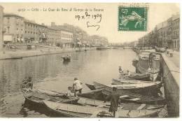 4052 - CETTE - LE QUAI DE BOSC ET RAMPE DE LA BOURSE ( Animées ) SETE - Sete (Cette)
