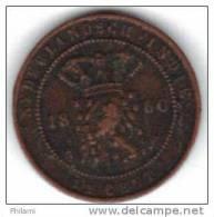 COINS PAYS BAS INDIA KM 306 1/2 Ct 1860.   (DP204) - Indes Néerlandaises