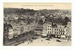 LISIEUX  La Place Thiers  Les Commerces Coiffeur .. Ets Bourgeais, Perol Ouvrier Du Bâtiment Sur échaffaudage - Lisieux