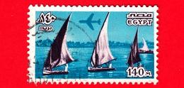 EGITTO - Usato - 1978 - Luoghi Di Interesse, Simboli E Opere D'arte - Imbarcazioni - Sail Boats On The Nile - 140 M - Posta Aerea