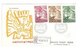 FDC - VENETIA  -  SANTO NATALE- ANNO 1965  - RACCOMANDATA - CITTA´ DEL VATICANO - FIRST DAY COVER - FDC