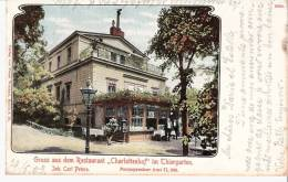 """Allemagne-Gruss Aus Dem Restaurant """"Charlottenhof"""" Im Thiergarten (Tiergarten-Berlin)- 1903- Color -(voir Scan) - Tiergarten"""