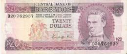 BILLETE DE BARBADOS DE $20 DEL AÑO 1988 FIRMA KING (MUY RARO) (BANKNOTE-BANK NOTE) - Barbados