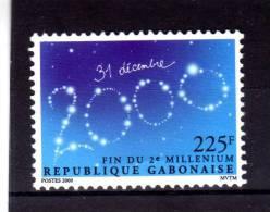 "GABON  2000   MNH   -  "" FIN DU 2e MILLENAIRE ""  -  1 VAL. - Gabon (1960-...)"