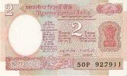 BILLETE DE LA INDIA DE 2 RUPIAS CALIDAD EBC+  (BANK NOTE) - India