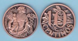 ESPAGNE / II REPÚBLIQUE  10 CÉNTIMOS 1.937   Cy. Tipo 1a-16725  COBRE SC/UNC   T-DL-10.331 Sui. - [ 2] 1931-1939 : République