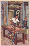 ILLUSTRATEUR HETREAU ILLUSTRATION METIER  MENUISIER  1948  TRES BON ETAT ! ! ! - Non Classificati