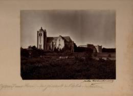 AYRON Vue Générale De L'eglise Du Château Photographie Signée Jules ROBUCHON Contrecollée Sur Carton - Autres Communes