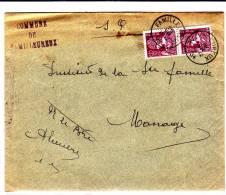 N°338(2) C1C FAMILLEUREUX 26.VII.34 S/l.au Tarif Réduit V.Manage.TB - Lettres & Documents