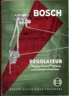 Brochure Bosch Stuttgart - Auto - Régulateur Pneumatique Pour Pompes D'injection - Auto