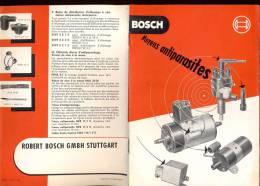 Brochure Bosch Stuttgart - Auto - Moyens Antiparasites Radio - Auto