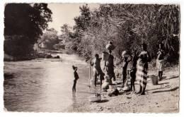 AFRICA TOGO ATAKPAME AT THE RIVER SIDE POSTCARD 1961. - Togo