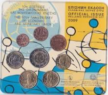 Grecia , 2009 Cartera Con Las 8 Monedas De 1 Ct A 2 Euros, EMU,bimetalica 2, Euroset, Euro .Greece , Grèce - Grecia