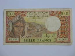 1000 Francs 1979-1988 - République De DJIBOUTI - Banque Nationale - - Djibouti