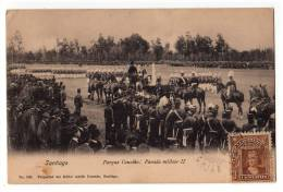 AMERICA CHILE SANTIAGO MILITARY PARADE II Nr. 802 OLD POSTCARD - Chile