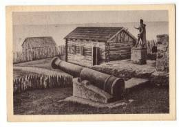 AMERICA CHILE PUNTA ARENAS RECONSTRUCTION OF FORT BULNES, OVERLOOKING THE STRAIT OF MAGELLAN OLD POSTCARD 1955. - Chile