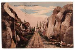 AMERICA CHILE FERRO-CARRIL THE RAILROAD TO ANDES MOUNTAINS OLD POSTCARD 1912. - Chile