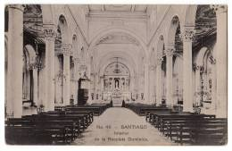 AMERICA CHILE SANTIAGO INTERIOR OF DOMINICA RECOLETA Nr. 46 OLD POSTCARD - Chile