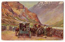"""AMERICA CHILE DEPARTURE FROM """"GUARDIA VIEJA"""" SERIE 404 Nr. 18 OLD POSTCARD - Chile"""