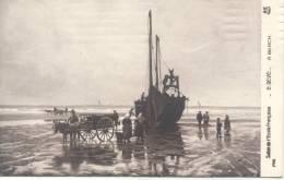 CPA - 62 - Préparatifs De Pêche à BERCK - Salon De L'ECOLE FRANCAISE Paris - E.Devé - VOYAGEE CPA 1918 - Visvangst