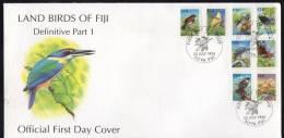 Fiji 1995 Land Birds Part I FDC - Fiji (1970-...)