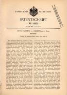 Original Patentschrift - Otto Graetz In Reichthal / Rychtal I. Schlesien , 1898 , Barometer , Luftdruck !!! - Technik & Instrumente