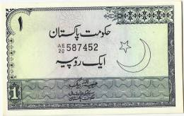 Pakistan One Rupees Old Banknote Signature Habib Ullah Baig 1971 UNC - Pakistan
