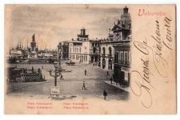 AMERICA CHILE VALPARAISO PLACE SOTOMAYOR OLD POSTCARD 1899. - Chile