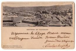 AMERICA CHILE VAPARAISO REMEMBERING VAPARAISO C. KIRSINGER & CA. OLD POSTCARD - Chile