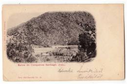 AMERICA CHILE SANTIAGO CONQUENOS BATHS SERIE 270 Nr. 99 OLD POSTCARD - Chile