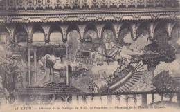 France Lyon Interieure de la Basilique de Notre Dame Mosaique de