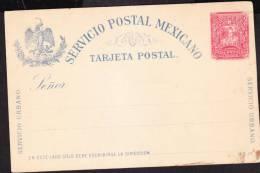 R)1895 MEXICO POSTAL STATIONARY, SERVICIO URBANO LETTER CARRIER IMPRESO. - Mexico