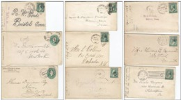 537. USA, Collection Of 9 Letters - 1847-99 Emissions Générales