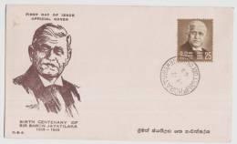 Ceylon / Sri Lanka FDC 1968, Sir Baron Jayatilaka, - Sri Lanka (Ceylon) (1948-...)