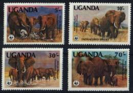 Uganda  ,  Minr. 361-64  ** Mi€. 11,00€  #0242 - Elefanten