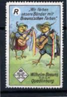 VIGNETTE - ERINNOPHILIE - WILHEM BRAUNS  - FABLES - MUSIQUE MUSIC GUITARE - Fairy Tales, Popular Stories & Legends