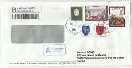 Lettonie, Belles Lettres Recommandées, Registered Mail - Latvia
