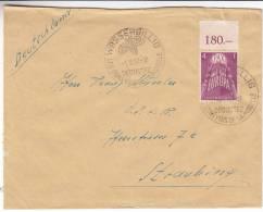 Europa CEPT - Luxembourg - Lettre De 1957 - Valeur 27,50 Euros - Raisins - Vins - Oblitération Wasserbillig - Luxembourg