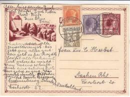 Luxembourg - Carte Postale Illustrée De 1933 - Charlotte Profil à Droite - Luxembourg