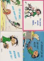 9 CPM ILLUSTREE FRANQUIN, GASTON LAGAFFE - Cartoline
