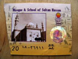 Museum Ticket From Egypt, Hologram, Mosque & School Of Sultan Hassan